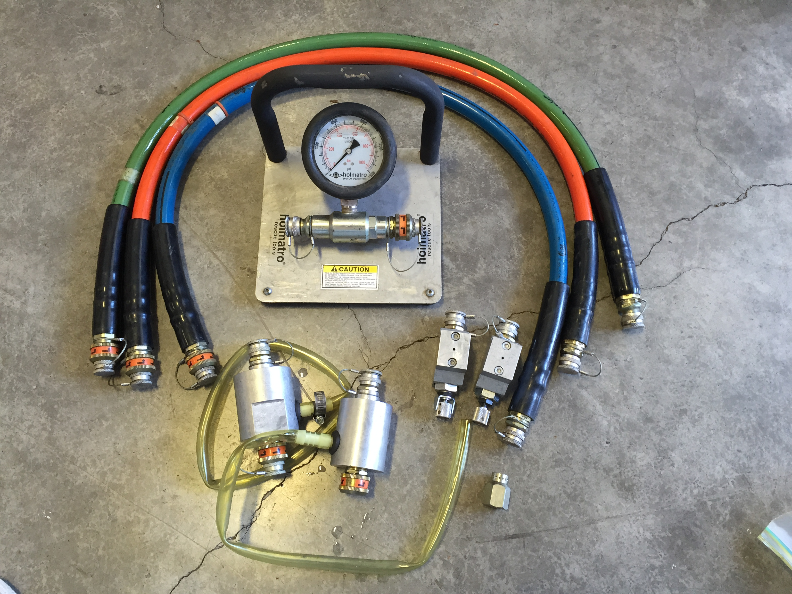 FOR SALE: Holmatro Rescue Tool Parts & Testing Equipment | Santiam
